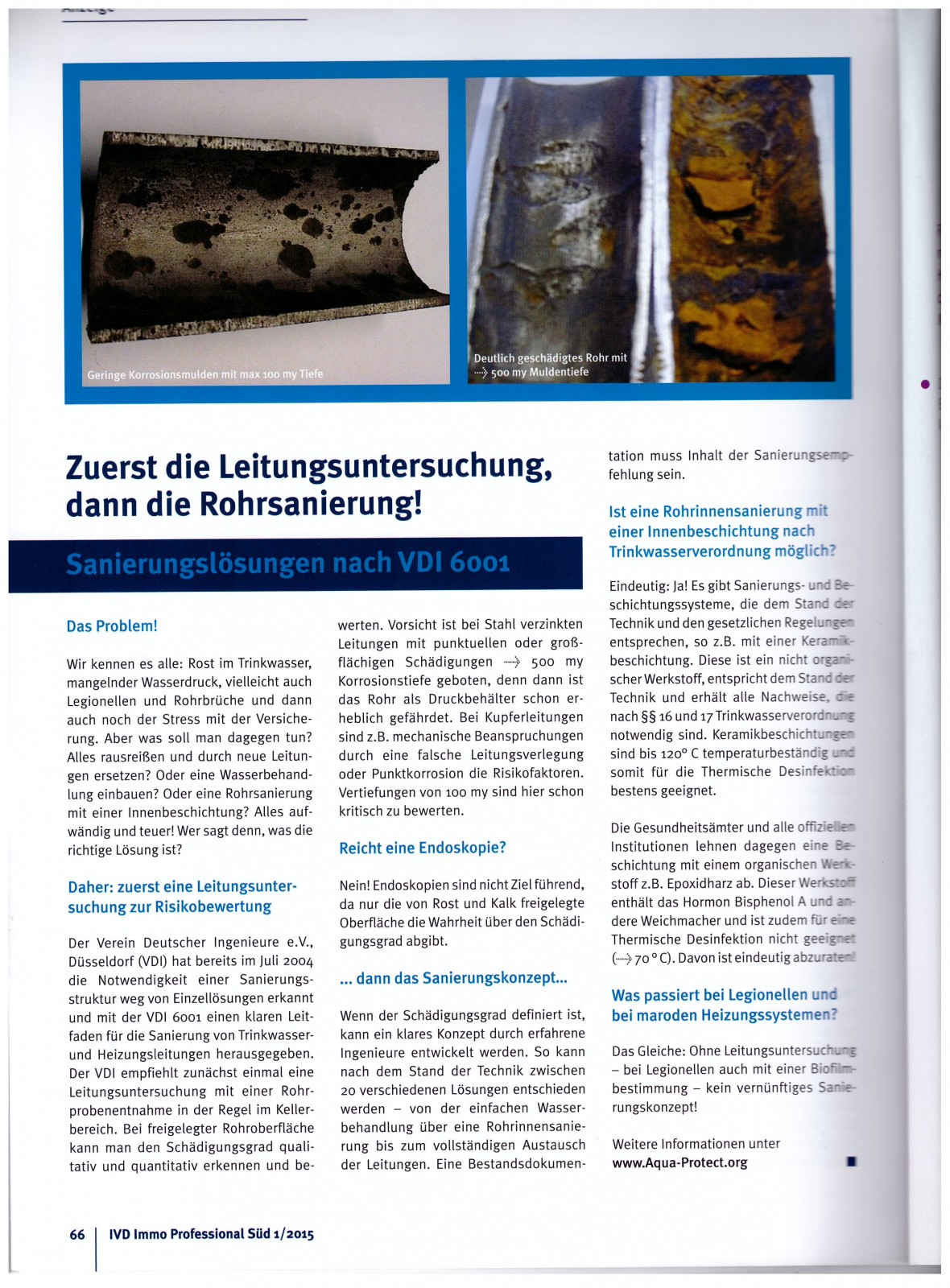 IMMO Professional - Verbandszeitschrift des IVD Süd e.V. Ausgabe 2015