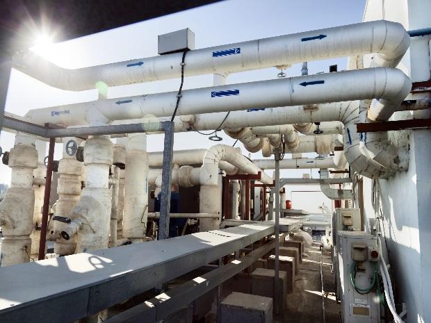 Leitungsspülung einer Industrieanlage